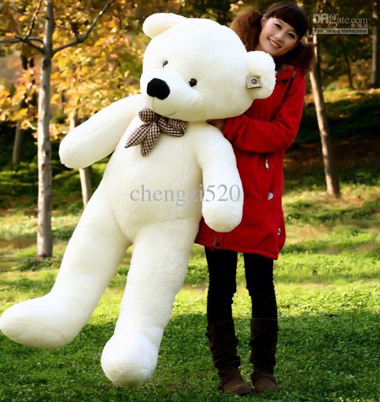 Cadeau de peluche blanche surdimensionnée d'ours en peluche de 1,4 m