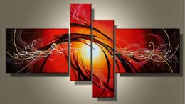 2019 arte de parede roxa para quarto Arte Moderna Pintura A Óleo Abstrata Múltipla Peças Da Arte Da Lona Conjuntos Apaixonado 100% Pintados À Mão Decoração
