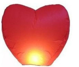 Wholesale Heart Chinese Wish - Mulan'S 20PCS Red Heart Chinese Fire Sky Lanterns Wishing Balloon Birthday Christmas Wedding Party L