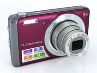Wholesale Ccd Zoom Camera - 14Mp ccd sensor digital camera with 5 x optical zoom 3 inch touch screen video Camera DC-T500