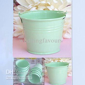 Light Green Tin Pails Wedding Favors Mini Pails Tin Candy