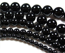 Wholesale 14mm Agate Beads - 6-14MM Natural round black onyx agate loose beads fashion jewelry beads.(300pcs lot)
