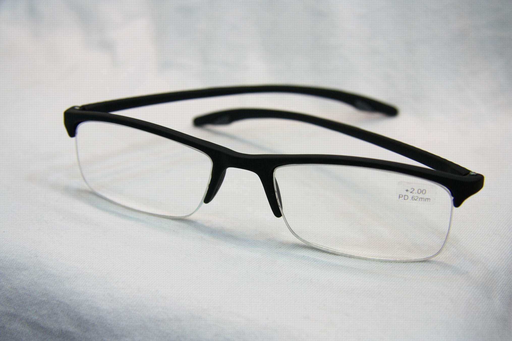 Fashion Design Optics Reading Glasses Half Rim Tr90