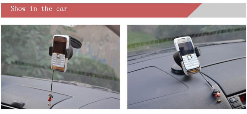 Support de voiture universel pour pare-brise de téléphone portable pour Iphone / GPS / PDA / MP3 / MP4 /