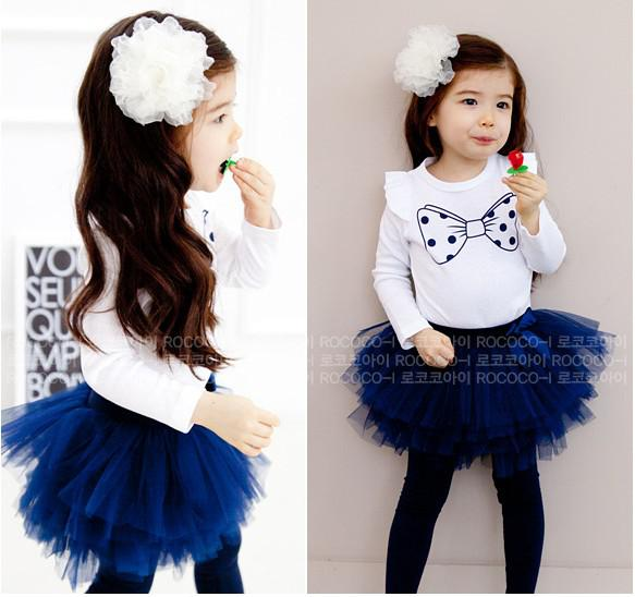 top popular Toddlers Outfits Baby Sets Girl Suit Kids Childrens Clothes Cute printed T-shirt+Tutu Skirt Leggings 2021