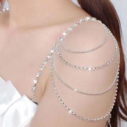 Wholesale Diamonds Bra - 2017 New Free Shipping Prom Party Sparkly Diamond Crystal Detachable Bridal Wedding Dress Bra Strap Bridal Accessory