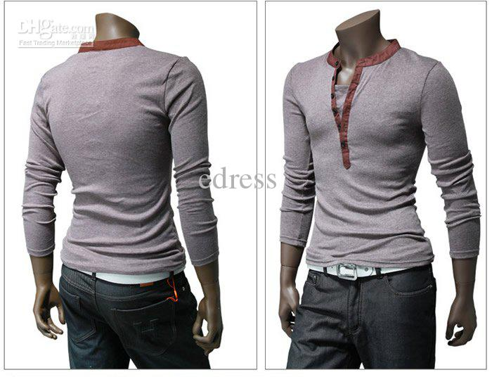 Hot Sale Men T Shirt Slim Fit Long Sleeve T Shirts Collection ...