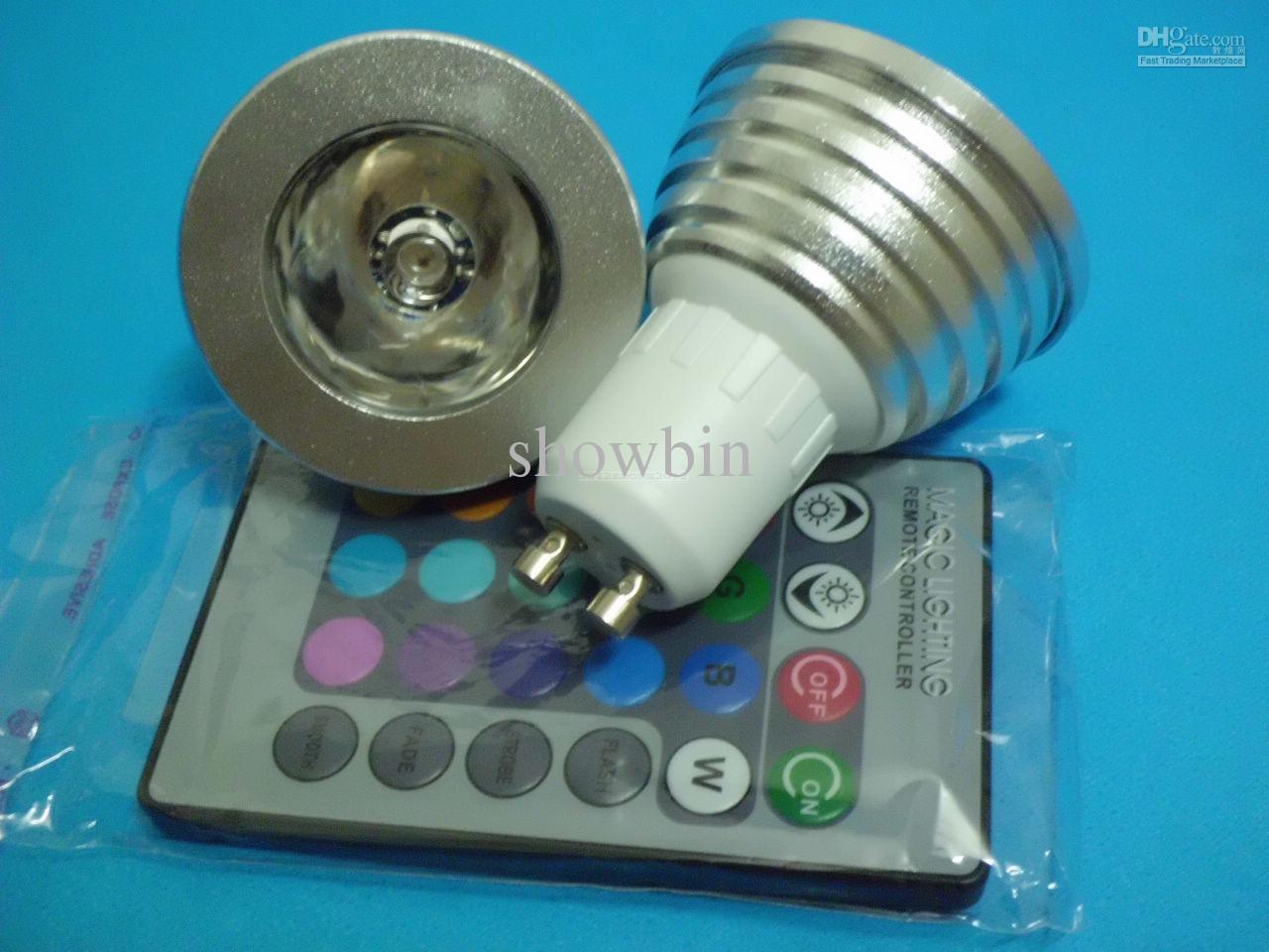 Gu10 RGB LED Magic Lighting Remote Control 16 Colors Change L& 3w 85-265v dimmable & Best Gu10 Rgb Led Magic Lighting Remote Control Change Lamp 3w 85 ... azcodes.com