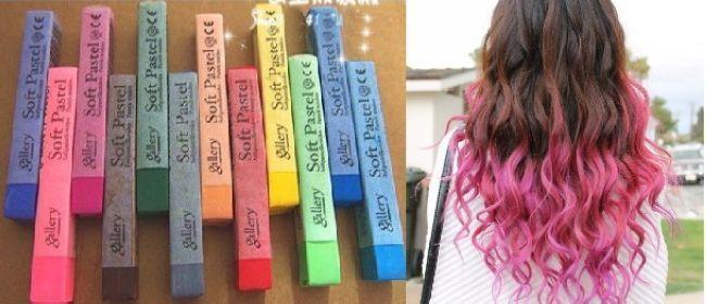 Fashion Trend Temporary Hair Color Dye Pastel Chalk Bug Rub Mix ...