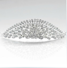 Wholesale Beauty Pageant Tiaras - Gorgeous Wedding Crown Tiara Jewelry Accessory Pageant Beauty Contest Peacock Headwear