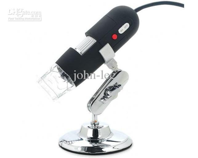 20-1000X 8LED USB Digital Microscope Electronic Zoom Endoscope Magnifier with Light 0.3MP Video Camera Loupe Adjustable Stand
