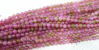 kristall edelstein lose perlen großhandel-6-14MM Natürliche Edelstein Runde Wassermelone Turmalin Kristall Lose Perlen Schmuck. (150 teile / los).