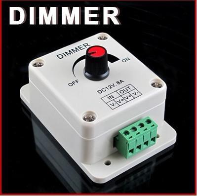 LED Işıklar veya Şerit 3528 5050, 12 Volt 8 Amp DIMMER İçin PWM Karartma Kontrol Cihazı