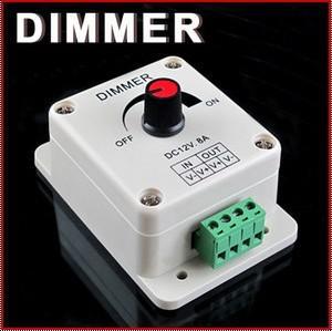 LEDライトまたはリボン3528 5050,12ボルト8アンプディンプル10ピースのためのPWM調光コントローラ