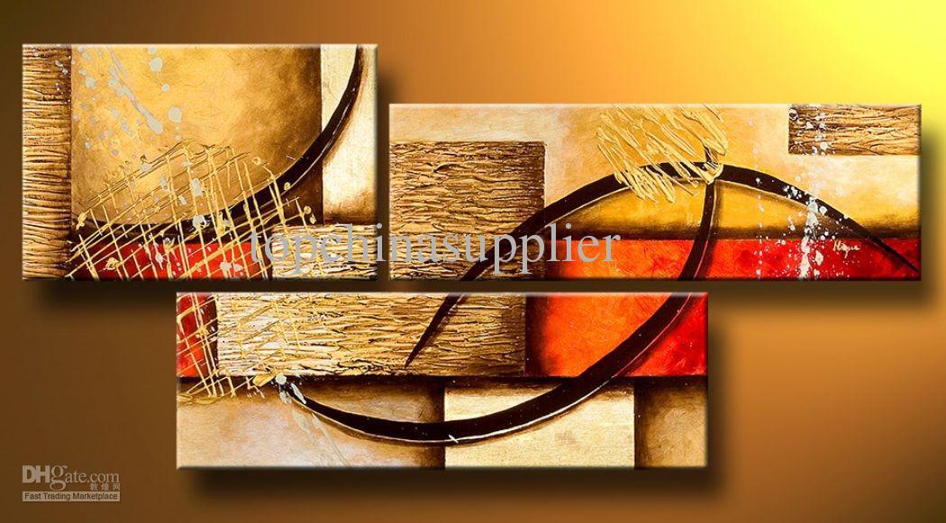 Kunst moderne abstrakte Ölgemälde mehrere Stück Leinwand Kunst Set riesige Handwerk Artwork hohe Qualität