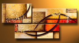 Alta obra de arte online-Arte Moderno Pintura Al Óleo Abstracta Múltiples Piezas Lienzo Arte Conjunto Enorme Artesanía Obras de Arte de Alta Calidad