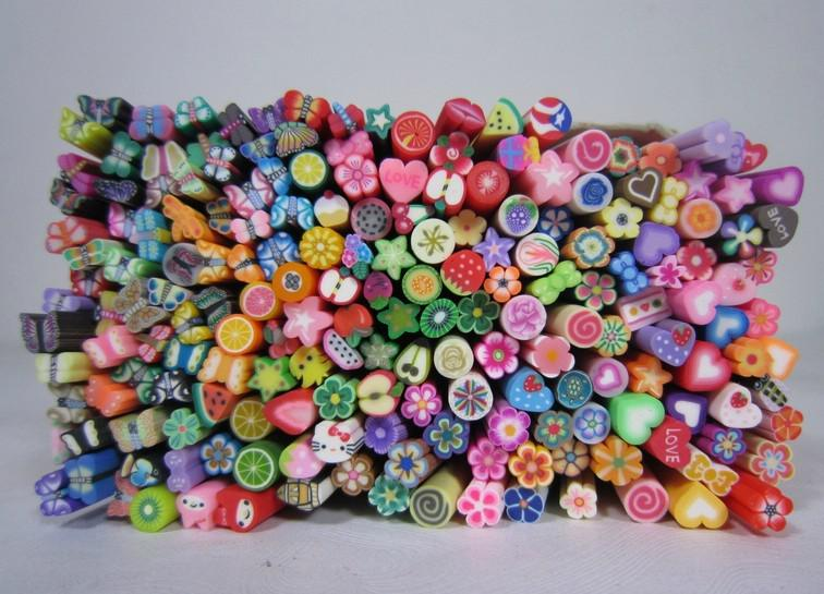 Nail Art Fimo Canes Rods Decoration Canes Polymer Clay Nail Art