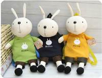 Wholesale Metoo Bag School - New Cute Metoo Rabbit Kid's Backpack Lovely Cartoon Metoo Children's Backpack School Bag 4 pcs lot