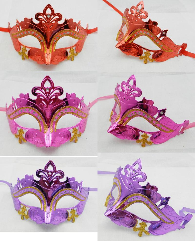 Máscaras de la mascarada Mardi Gras Venetian Dance Party Máscara para mujer hombre Half Face oro brillantes apoyos de la boda es