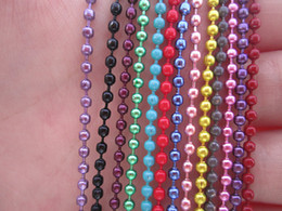 Mix Color Ball Chain NZ - Mixed color -2.4mm 27inch (13 color)ball necklace chain with matching connector 100pcs lot