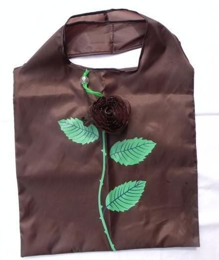 Melhor jogo 10 Pcs Bonito Dobrável de Compras Nylon Rose Bag Eco Reutilizáveis Reciclagem Sacos