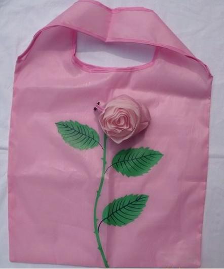 Le meilleur match 10Pcs Mignon Pliable Shopping Nylon Rose Sac Eco réutilisable Sacs de recyclage
