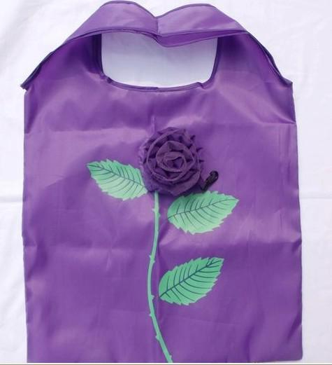 Bästa matchen 10st Cute Foldbar Shopping Nylon Rose Bag Eco Reusable Recycle Bags