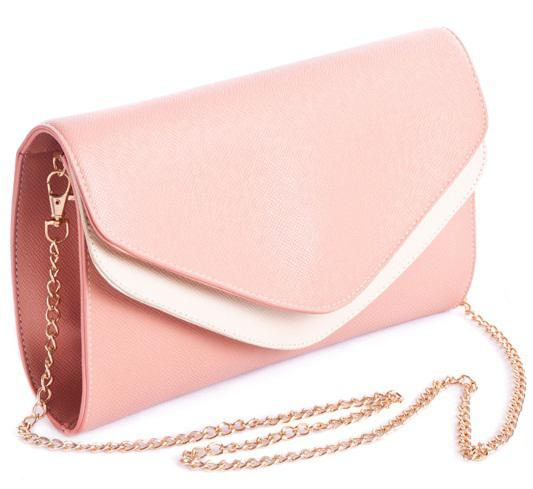Two Layer Covers Women Pink Clutches Chain Handle Shoulder Bags ...