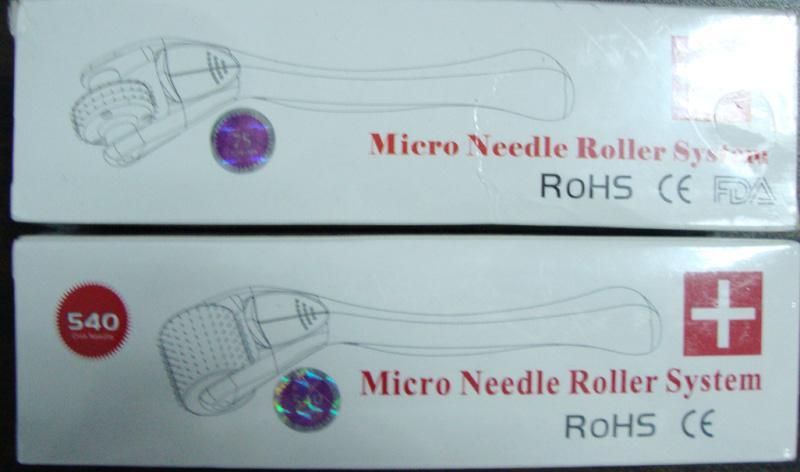 새로운 스테인레스 스틸 540 핀 Microneedle Derma 스킨 메소 롤러 Dermaroller