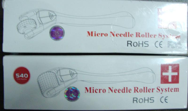 Nieuwe roestvrijstalen 540 pins Microneedle Derma Skin Meso Roller Dermaroller