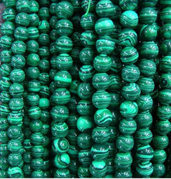 Wholesale Loose Gemstone Wholesalers - 4-12MM Natural malachite round beads gemstone loose beads fashion jewelry for bracelets.150pcs lot.