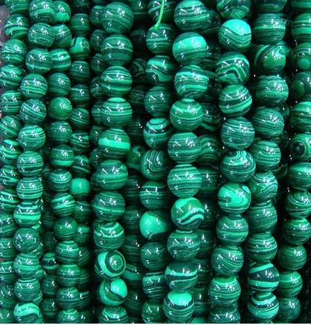 top popular 4-12MM Natural malachite round beads gemstone loose beads fashion jewelry for bracelets.150pcs lot. 2019