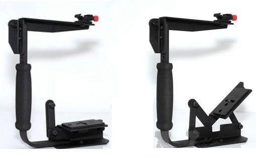 Rotierender Kamerablitzhalter für Kamera mit einem Handgriff drehen Bracket-Lampenständer