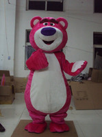 Wholesale Lotso Halloween Costume - fur adult pink lotso bear mascot costumes cartoon outfit free shipping high quality