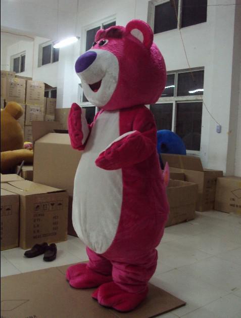 päls vuxna rosa lotso björn maskot kostymer tecknad outfit gratis frakt hög kvalitet