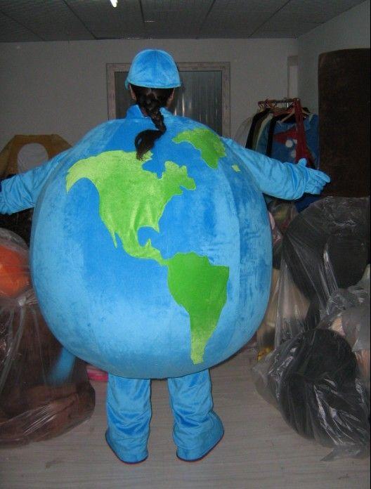 costume fait sur commande de mascotte adulte bleu de la terre de bande dessinée costume pour la fête bonne qualité gratuite expédition de baisse