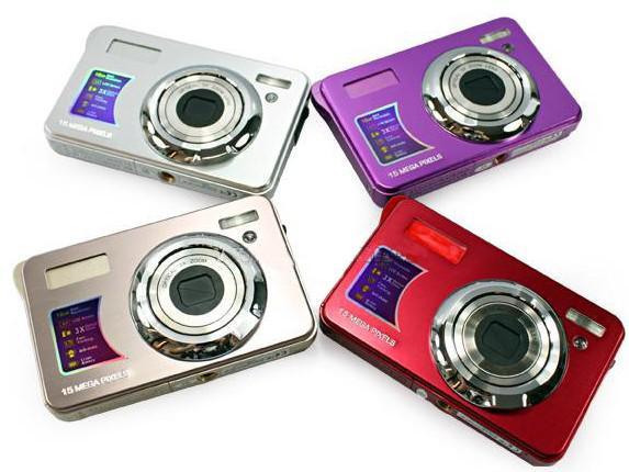 15MP 4x Digital zoom 3x Optical Camera 2.7 Inches Anti-shake Face Detection digital camera DC-5800