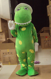 Wholesale Dorothy Dinosaur Mascot Costume - wholesale adult plush green dorothy the dinosaur mascot costumes size L hotsale