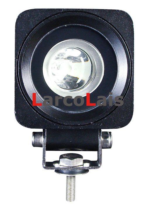 1ピー10W LEDワークライトランプ電球オフロード12V 24V 10-30V車トラックATVスポット洪水ワーキングライト