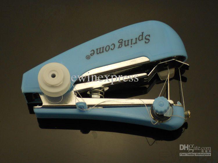 Nieuwe Quick Handheld Draagbare Mini Handige Sartorius Naaimachine naaien Goedkope prijs 200 stks / partijen gratis verzending
