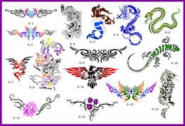 Wholesale Temporary Airbrush Tattoo Stencil Books - 2012 lastest new fashion Hot unit 6 golden phoenix temporary AIRBRUSH TATTOO STENCIL BOOK 15 pics