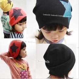 Wholesale Crochet Star Hat - 5pcs Big Star Design Cotton Beanie Hats Kid's Skull Cap Toddler Infant Hat Children Accessories