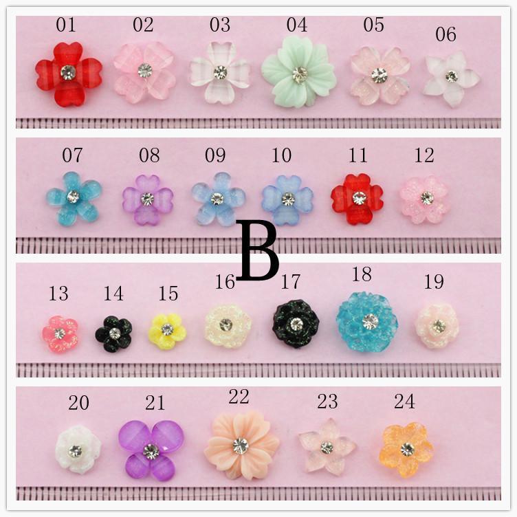 Gekleurde kristallen bloemensticker stickers de nieuwe stijl