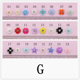 Wholesale Sticker Plastic Flower - Colored Crystal Flowers Decal Stickers The New Style