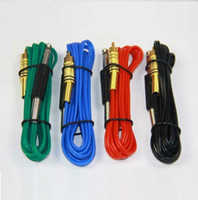 Wholesale Top Gel Machine - Top Silica Gel RCA Tattoo Power Clip Cords For Stigma Bizarre V2 Machine Guns 4 Colors Kits Supply
