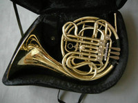 Wholesale Chinese French Horns - NEW Chinese Brand CTE 4 key double French Horn Golden One body with case Free shipping