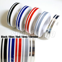 Wholesale Car Body Stripes - 20pcs lot Pin Stripe Tape Streamline Decals Stickers for Car 12*9800mm Black Blue Red Grey Decoration Strip