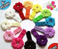 Wholesale peony clip flowers online - stes BABY Girls Peony Flower Clip quot Hair Headband fashion_house