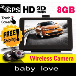 "Wholesale Buick Reverse Camera - 7"" HD GPS HD CAR NAVIGATION 8GB+WIRELESS REVERSE CAMERA+Free latest 2014 map+2 Years Warrant"