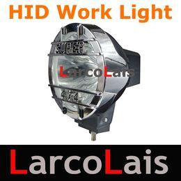 """Wholesale Hid Xenon Spotlight Offroad - 2pcs 35W 55W 7"""" HID Xenon Driving Spotlight Flood Offroad Light 12V 24V 4WD 4x4 Truck Headlight"""